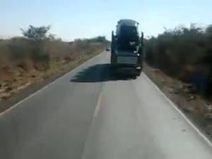 muito cuidado na estrada .
